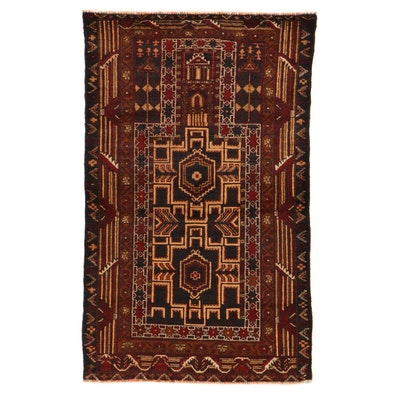 2'9 x 4'6 Afghan Turkmen Rug, 2000s