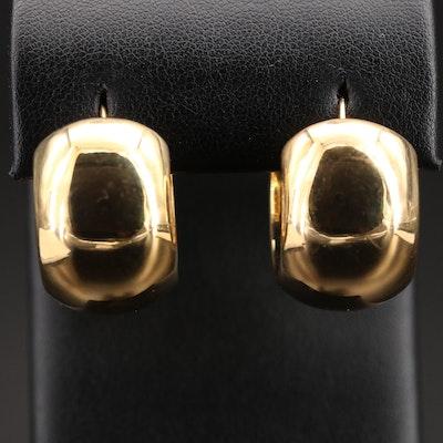 18K Puffed Hoop Earrings