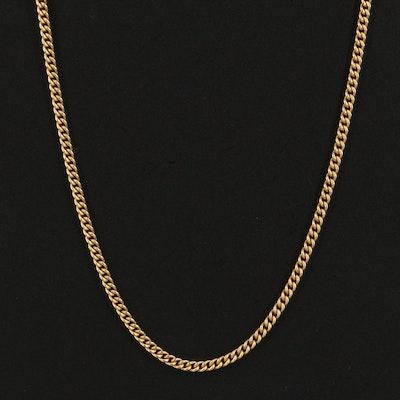 18K Curb Link Necklace
