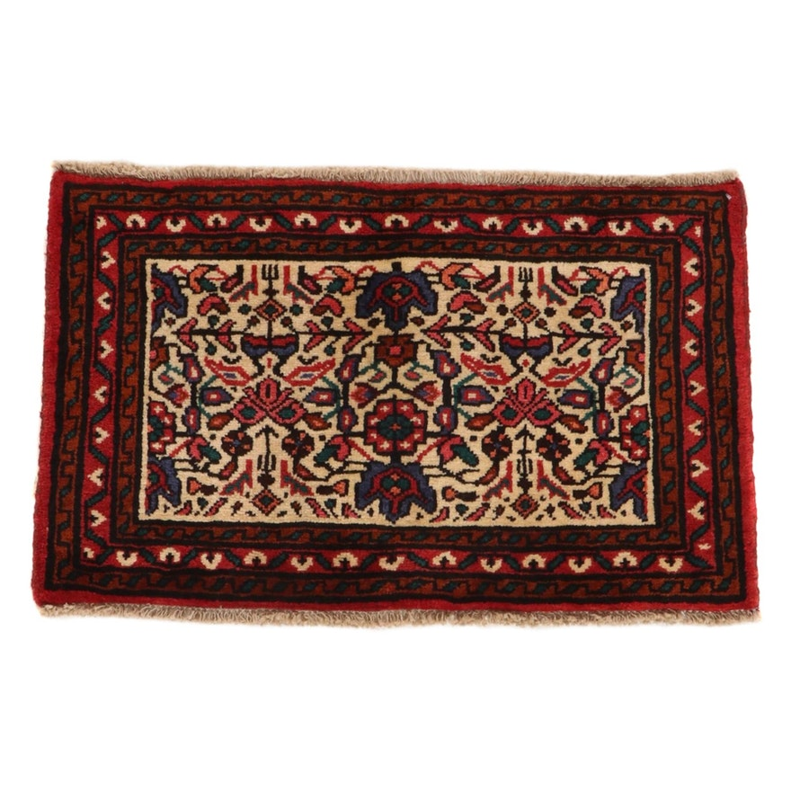 2' x 3'2 Hand-Knotted Persian Zanjan Rug, 1970s