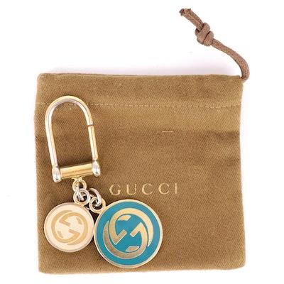 Gucci Interlocking GG Charms Keychain