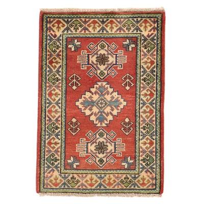 2'1 x 3'2 Hand-Knotted Afghan Kazak Rug, 2010s