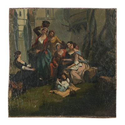 Genre Scene Oil Painting of Women, Late 19th to Early 20th Century