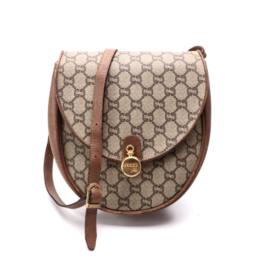Gucci Plus Saddle Bag in GG Plus Canvas