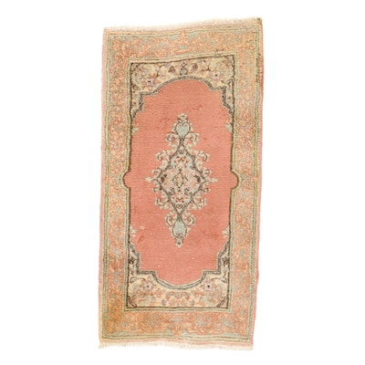 2' x 4'2 Hand-Knotted Persian Kerman Rug, 1970s
