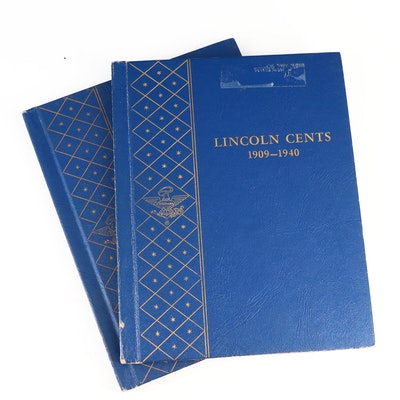 Lincoln Wheat and Memorial Cents in Whitman Coin Binders, 1934–1974