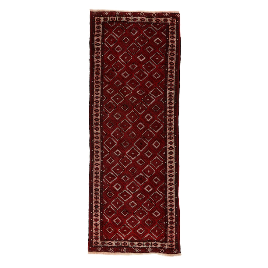 3' x 8'4 Hand-Knotted Persian Turkmen Long Rug, 1960s