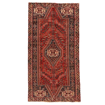 4'7 x 8'8 Hand-Knotted Persian Qashqai Area Rug
