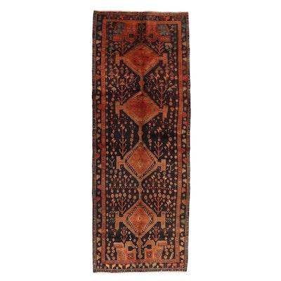 5'1 x 14'1 Hand-Knotted Persian Kurdish Long Rug