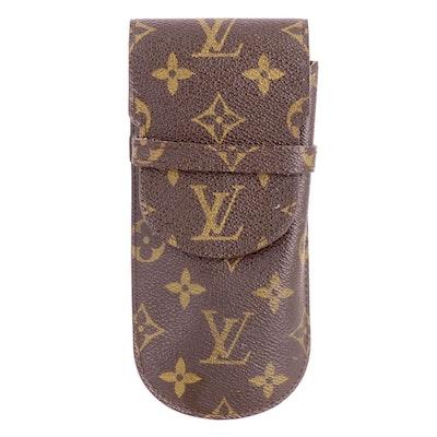 Louis Vuitton Etui à Lunettes Glasses Case in Monogram Canvas