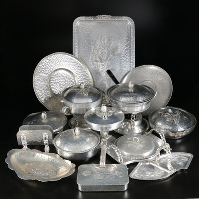 Rodney Kent Hand Wrought Aluminum Serveware and Table Accessories