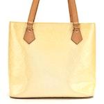 Louis Vuitton Houston Bag in Perle Monogram Vernis and Vachetta Leather