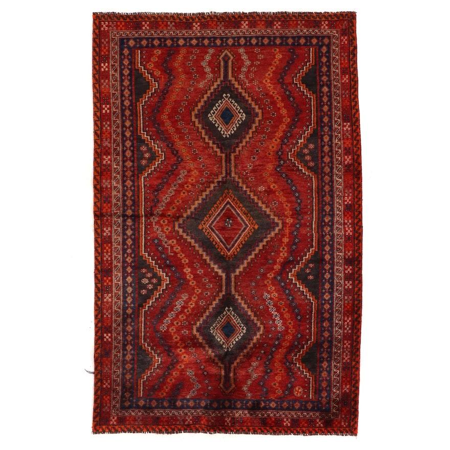 5' x 8' Hand-Knotted Persian Shiraz Luri Area Rug