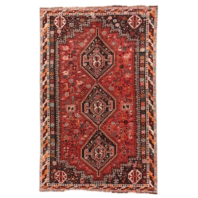 5'5 x 8'6 Hand-Knotted Persian Qashqai Area Rug