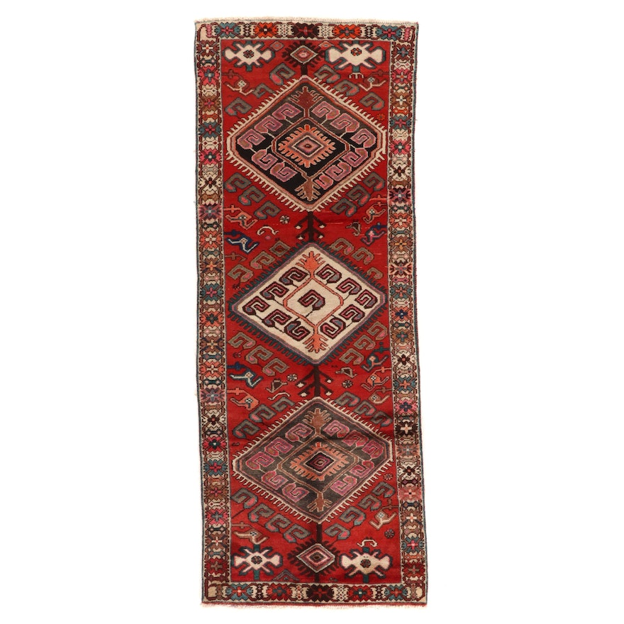 3'8 x 9'9 Hand-Knotted Northwest Persian Long Rug