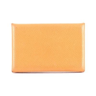 Hermès Calvi Card Holder in Mysore Goatskin Leather