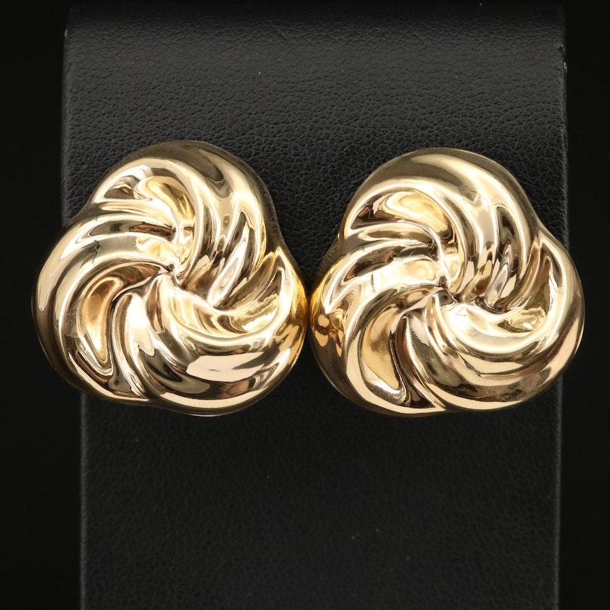Italian 14K Trinity Knot Earrings
