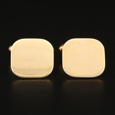 10K and 14K Square Cufflinks