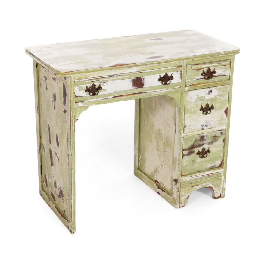 Four Drawer Painted Wood Desk, Late 20th Century