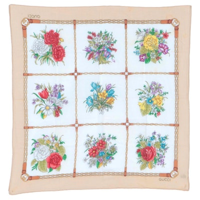 Gucci Floral Cotton Scarf
