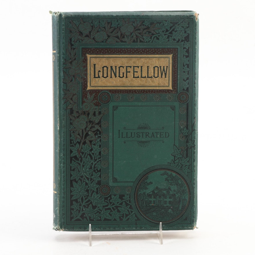 """Illustrated """"The Complete Poetical works of Henry Wadsworth Longfellow,"""" 1883"""