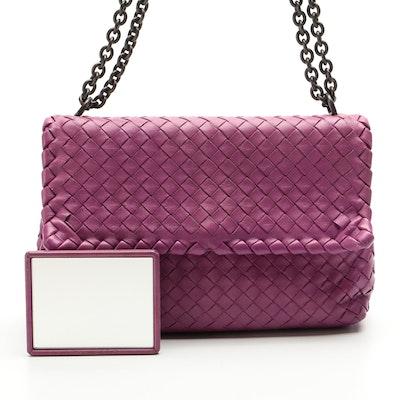 Bottega Veneta Small Olimpia Bag in Intrecciato Woven Nappa Leather