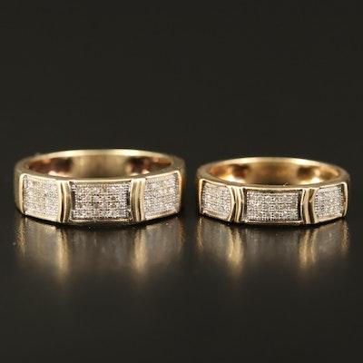 14K Diamond Matching Bands