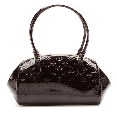 Louis Vuitton Sherwood PM Bowler Bag in Amarante Monogram Vernis