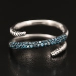 Sterling Blue Diamond Wrap Band