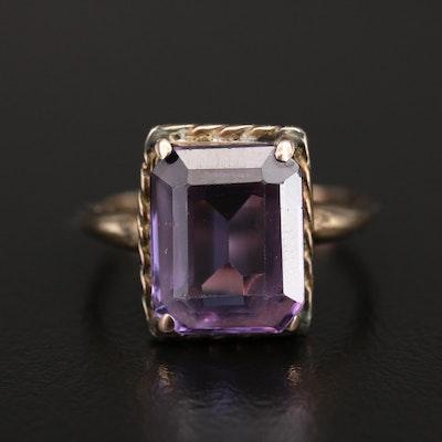 Vintage 14K Color Change Sapphire Ring