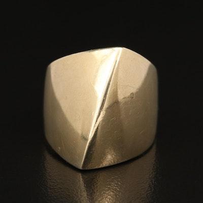 14K Knife-Edge Ring