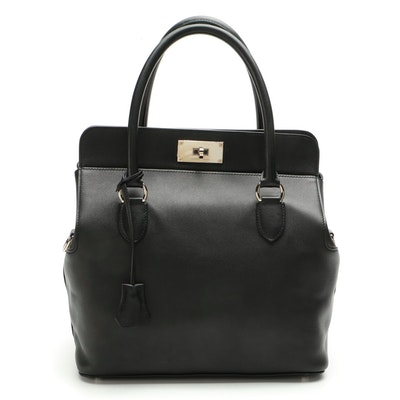 Hermès Toolbox 26 Tote Bag in Nero Swift Leather