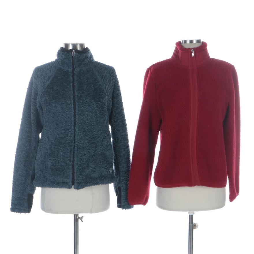 Lauren Ralph Lauren Fleece Jacket with Mountain Hardwear Brushed Chenille Jacket