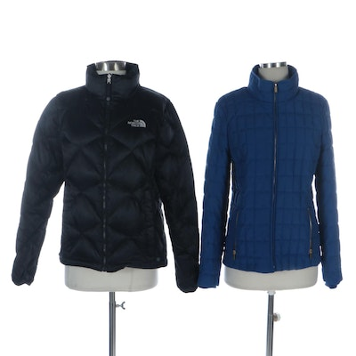 The North Face and J. Crew Puffer Jackets