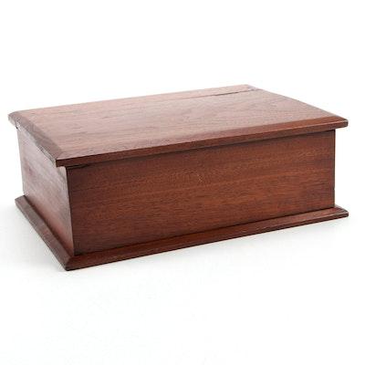 Victorian Walnut Flip Top Box, Late 19th/ Early 20th Century