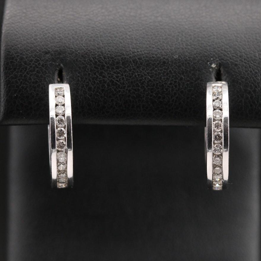 14K 1.20 CTW Diamond Inside-Out Hoop Earrings