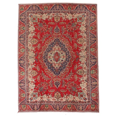 8'10 x 12'2 Hand-Knotted Persian Kerman Room Sized Rug