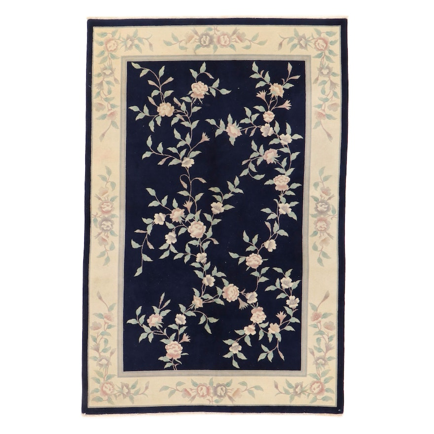 5'9 x 8'9 Hand-Knotted Chinese Art Deco Style Rug, 1990s