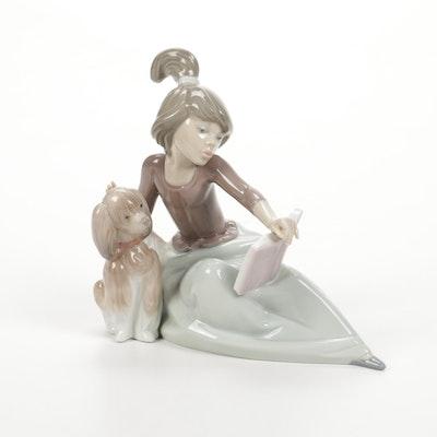 """Lladró """"A Lesson Shared"""" Porcelain Figurine Designed by Juan Huerta"""