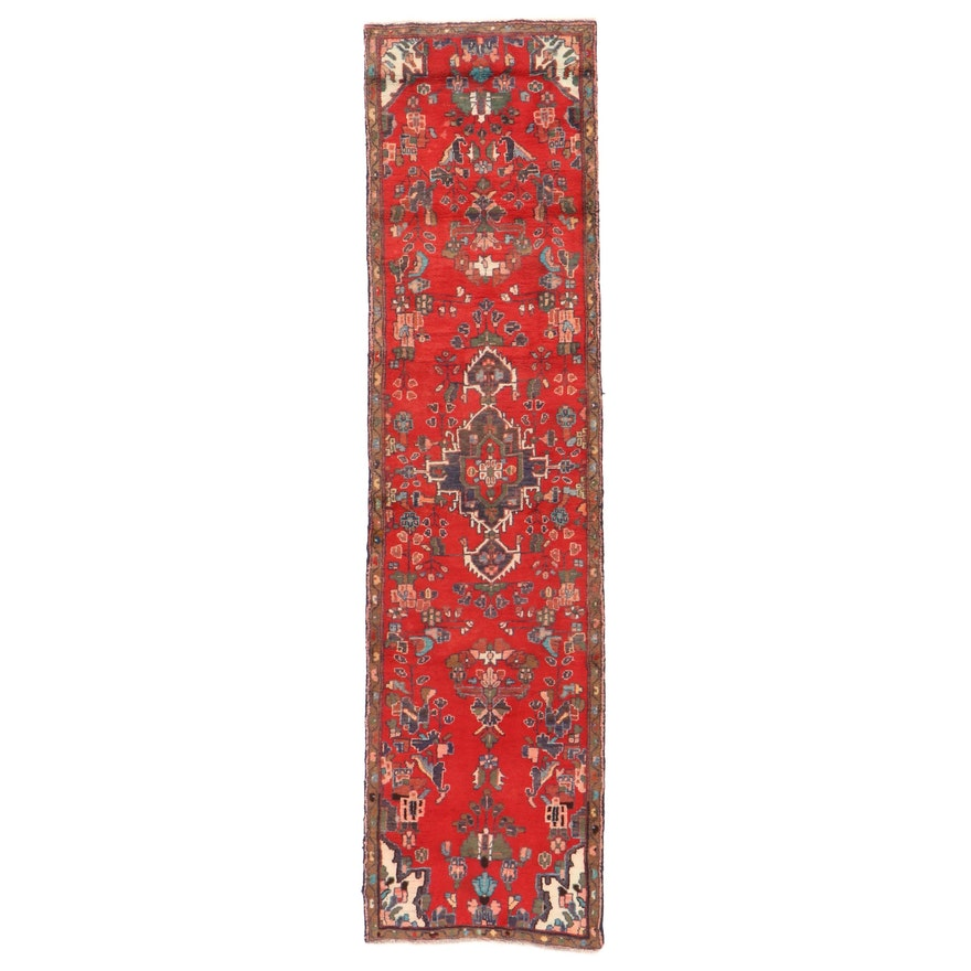 2'7 x 9'11 Hand-Knotted Persian Hamadan Carpet Runner