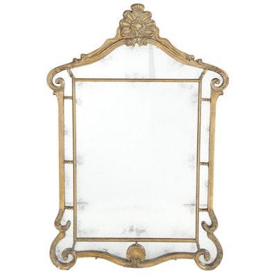 Uttermost Neoclassical Style Giltwood and Composite Frame Wall Mirror