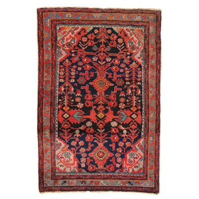 4'3 x 6'5 Hand-Knotted Persian Malayer Rug, 1920s