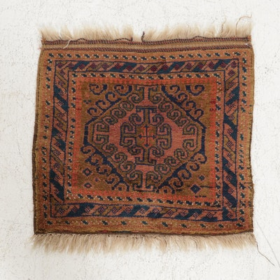2'4 x 2'6 Hand-Knotted Persian Baluch Rug, 1920s