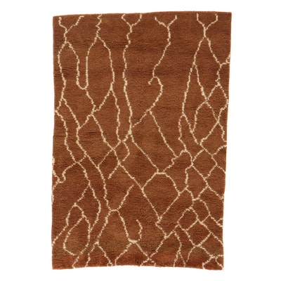 4' x 5'11 Hand-Knotted Indo-Moroccan Rug, 2010s