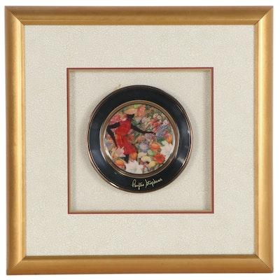 Phyllis Stephens Giclée on Ceramic Plate, Late 20th-21st Century