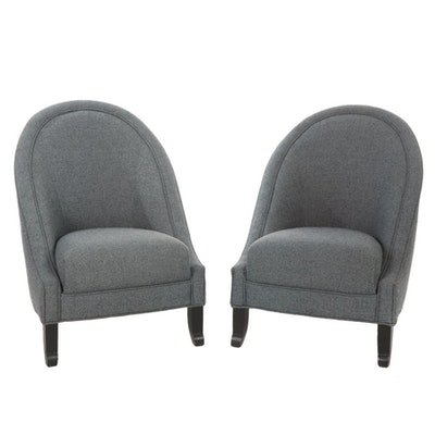 """Pair of Directional Furniture Upholstered """"Miss Buckley"""" Club Chairs"""