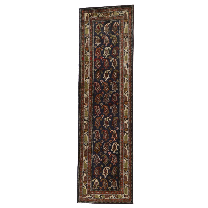 2'6 x 9' Hand-Knotted Persian Ardebil Carpet Runner, 1940s