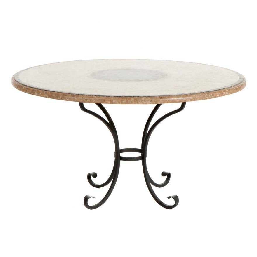 """Arhaus """"Mosaic Collection"""" Iron and Tile Top Dining Table"""