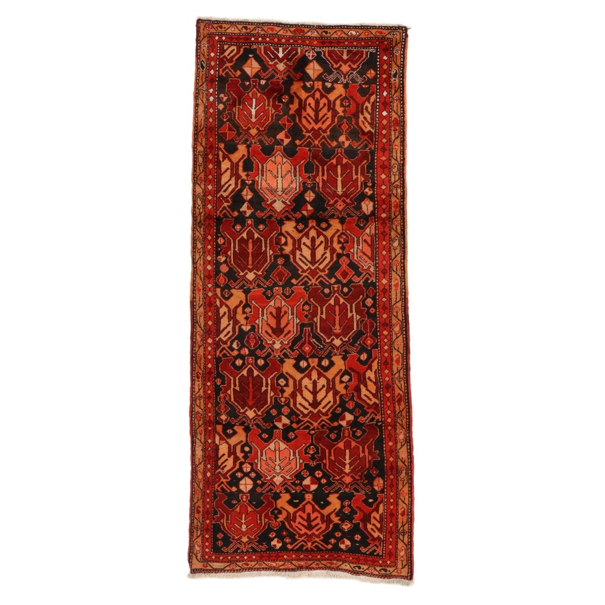 3'5 x 8'8 Hand-Knotted Persian Heriz Long Rug, 1960s