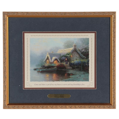 """Offset Lithograph after Thomas Kinkade """"Lochaven Cottage,"""" 1999"""